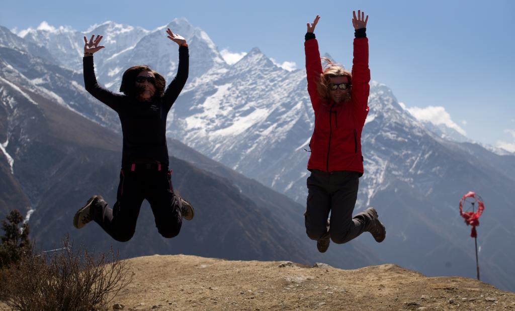 Skaczemy nad Namche Bazar Nepal