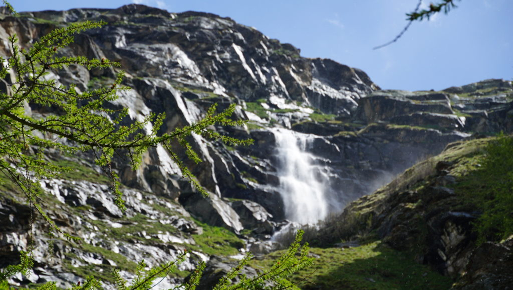 wodospad w Alpach