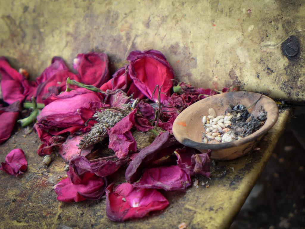 platki roz ziarna ryzu nepal